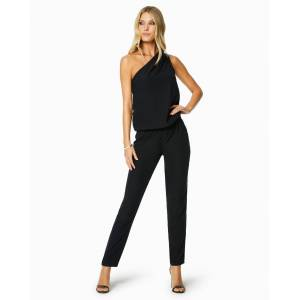Lulu One Shoulder Jumpsuit in Black - Size: 2X-Small