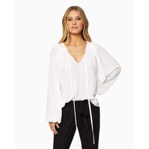 Paris Long Sleeve Blouse in Ivory - Size: Medium