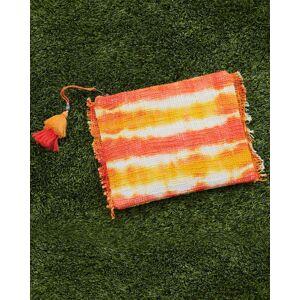 https:/cdn.shopify.com/s/files/products/Ariel dca645a6-4479-4091-9fc1-1e01276ceb14.jpgv1614981416 Tie-dye Stripe Pouch in Orange - Size: One Size