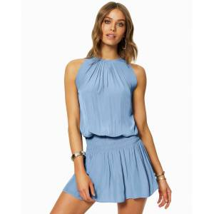Paris Sleeveless Mini Dress in Blue Moon - Size: Extra Small