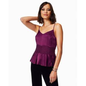 Shay Ruched Tank Top in Mulberry - Size: 2