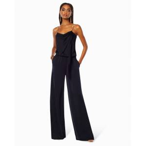 Chrissy Wide Leg Jumpsuit in Black - Size: 2X-Small