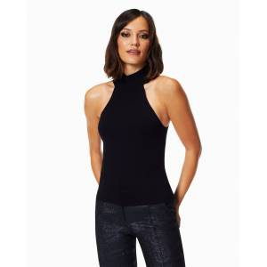 Parker High Neck Top in Black - Size: Extra Small