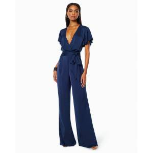 Ariana V-neck Jumpsuit in Navy - Size: 6