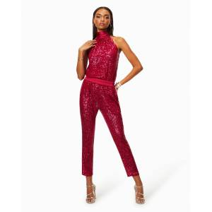 Avalon Sequin Jogger in Diva Pink - Size: Extra Large