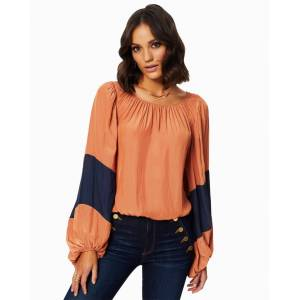 Analisa Puff Sleeve Blouse in Terracotta - Size: Extra Large