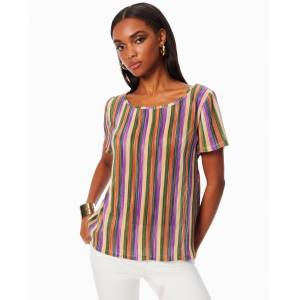 Tee Adeline Striped Tee in Tropical Stripe - Size: Large