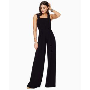 Everson Wide Leg Jumpsuit in Black - Size: 10