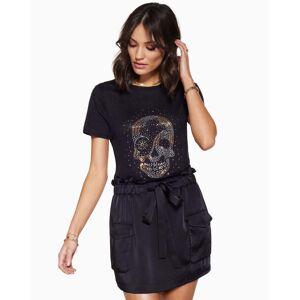 Fiona Mini Skirt in Black - Size: Small