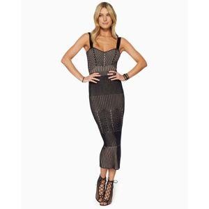 Lisa Midi Pencil Skirt in Black - Size: Medium