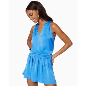 Delora Smocked Mini Dress in Horizon - Size: 2X-Small
