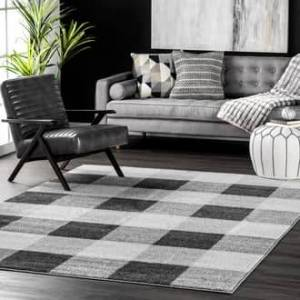 Buffalo Rugs USA Gray Granite Buffalo Plaid rug - Casuals Rectangle 3' x 5'