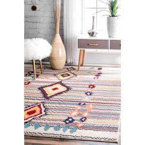 "Rugs USA Multi Chroma Center Diamond rug - Contemporary Rectangle 5' 3"" x 7' 7"""