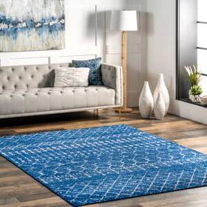 """Rugs USA Blue Bosphorus Moroccan Trellis rug - Contemporary Rectangle 5' x 7' 5"""""""