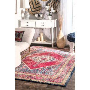 "Rugs USA Multi Bosphorus Olden Herati Medallion rug - Traditional Rectangle 5' x 7' 5"""
