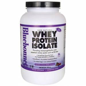 Bluebonnet Nutrition Whey Protein Isolate - Mixed Berry 2 lbs Powder