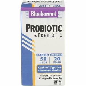 Bluebonnet Nutrition Advanced Choice Singledaily Probiotic with Inulin 50 Billion CFU 30 Veg Caps