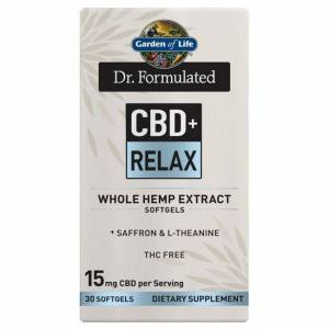 Garden of Life Dr. Formulated Cbd+ Relax 30 Soft Gels Sleep and Relaxation
