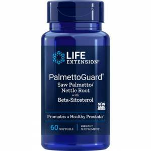 Life Extension Palmettoguard Saw Palmetto/Nettle Root with Beta-Sitosterol 60 Soft Gels Herbs and Supplements