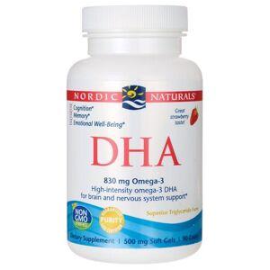Nordic Naturals Dha - Strawberry 500 mg 90 Soft Gels Essential Fatty Acids