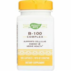 Nature's Way B-100 Complex 100 Caps B Vitamins