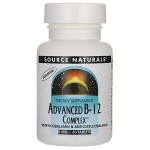 Source Naturals Advanced B-12 Complex 5 mg 60 Tabs B Vitamins
