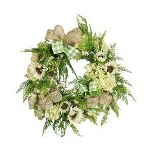 Creative Labs Displays 32in White Sunflower and Wild Flower Wreath