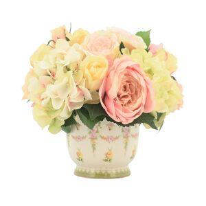 Creative Labs Displays Pink Peony & White Hydrangea Floral Arrangement