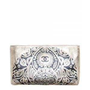 Chanel Limited Edition Gold Leather Paris Bombay Metiers d'Art Clutch