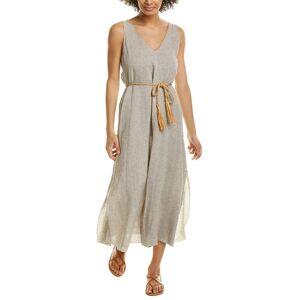 Forte Forte Shimmering Linen A-Line Dress - Brown - Size: 0