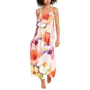 Josie Natori Eden Maxi Dress - Orange - Size: 2