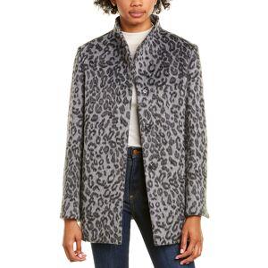 Cinzia Rocca Icons Medium Wool-Blend Coat - Grey - Size: 8