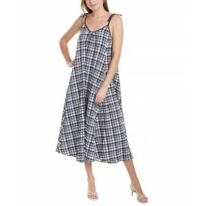 Solid & Striped Puckered Maxi Dress - Blue - Size: l