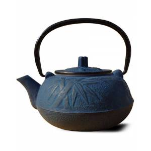 Old Dutch 20oz Blue Cast Iron Osaka Teapot