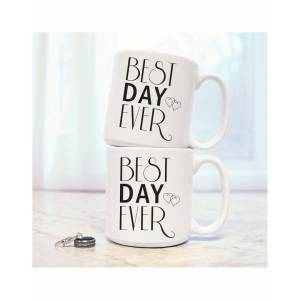 Cathys Concepts Cathy's Concepts Best Day Ever Set of Two 20oz Large Coffee Mugs