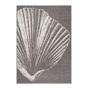 nuLOOM Thomas Paul Fan Seashell Indoor/Outdoor Rug - Size: 8' x 11'