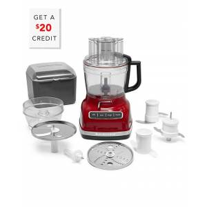 KitchenAid 11-Cup Food Processor with Exactslice with $20 Credit - Red