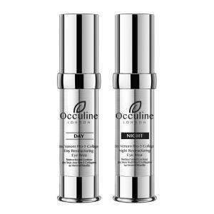 Occuline London 0.50oz Bee Venom & Pro-5 Collagen Daily Youth & Overnight Restructuring Eye Treatment Duo