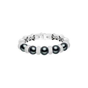 Diana M. Fine Jewelry 18K 3.17 ct. tw. Diamond & 11.4mm Pearl Cuff