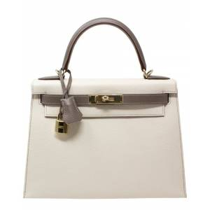 Hermes Craie & Etain Epsom Leather Kelly 28, NWT