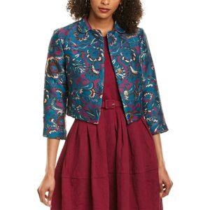Samantha Sung Madison Silk Jacket - Size: 6