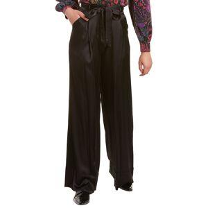 Josie Natori Satin Pant - Black - Size: 12