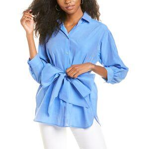 Weekend Max Mara Danilo Silk-Blend Shirt - Blue - Size: 10