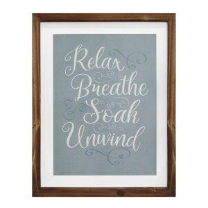 Stratton Home Decor Relax, Breathe, Soak, Unwind Framed Bath Art