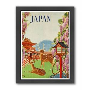 """American Flat Americanflat Travel Japan by Chad Hyde Framed Artwork - Size: 9"""" x 11"""""""