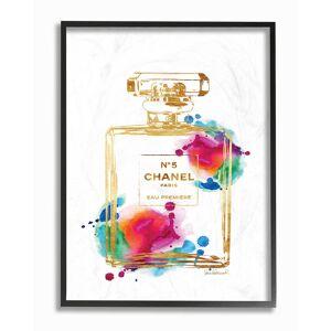 "Stupell Fashion Perfume Gold Rainbow by Amanda Greenwood Framed Art - Size: 11"" x 2"" x 14"""