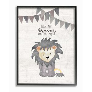 """Stupell You Are Braver Lion by Jo Moulton Framed Art - Size: 11"""" x 2"""" x 14"""""""