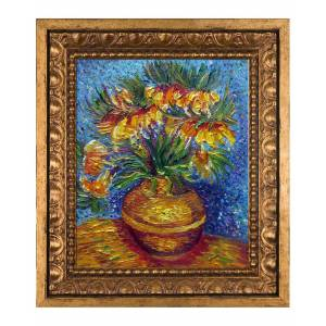 Overstock Art La Pastiche by overstockArt Crown Imperial Fritillaries in a Copper Vase by Vincent Van Gogh