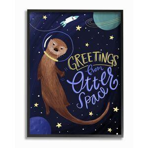 "Stupell Otter Space Funny Animal by Megan Dunagan Framed Art - Size: 11"" x 2"" x 14"""