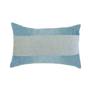 """Edie@Home Celebrations Panne Velvet Decorative Pillow - Multi - Size: 12"""" x 20"""" x 6"""""""